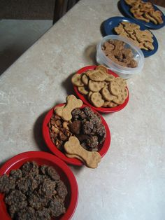 Homemade dog treats and DIY packaging.