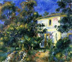 Algérie - Peintre Français Pierre-Auguste Renoir (1841 -1919), huile sur toile, Titre : Paysage Algerien.