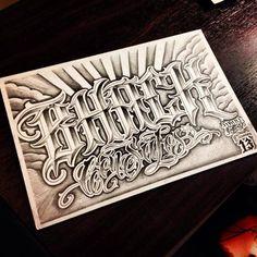 Lettering artwork by Daniel Zaragoza Graffiti Lettering Alphabet, Tattoo Fonts Alphabet, Alphabet Tattoo Designs, Tattoo Lettering Fonts, Font Art, Lettering Styles, Hand Lettering, Cholo Art, Chicano Art