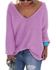 Cheap sueter mujer, Buy Quality sweater top directly from China knitted sweater Suppliers: Womens Cute Elegant V Neck Loose Casual Knit Sweater Pullover Long Sleeve Spring Sweater Tops sueter mujer Hot Selling Knitting Pullover, Knitted Poncho, Pullover Sweaters, Poncho Sweater, Sweater Shop, Knitting Sweaters, Rosa Pullover, Oversize Pullover, Oversized Tops