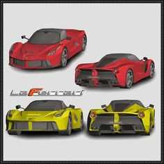 LaFerrari Paper Car Free Paper Model Download - http://www.papercraftsquare.com/laferrari-paper-car-free-paper-model-download-2.html