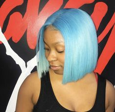 Short Blue Hairstyle Sew In Hairstyles, Blue Hair, Long Hair Styles, Beauty, Beleza, Long Hairstyle, Long Hairstyles, Long Hair Cuts, Long Haircuts