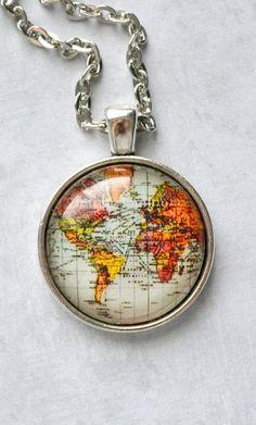Destination Travelers Map Necklace ♥