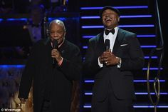 What's so funny: LL Cool J couldn't stop laughing it seemed as he spoke with music producer Quincy Jones
