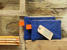 Electric blue/orange Mix and match pouches. Travel par emmieshop, £16.00