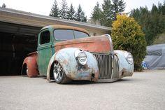 My 1940 Ford Rat Rod (under construction) All Truck, Vintage Pickup Trucks, Old School Cars, Rat Race, Hot Rod Trucks, Pedal Cars, Drag Cars, Old Farm, Custom Trucks