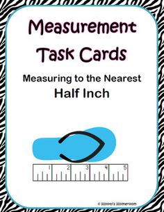 This set of 24 measurement task cards provides students an opportunity to practice measuring objects to the nearest inch and half inch.  A little e...