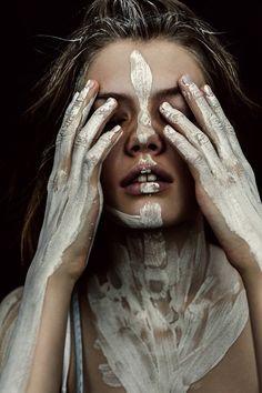 Symbolic War Paint Editorials : Artistic Cosmetics                                                                                                                                                     More