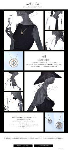 mille-eclats【ファッション関連】のLPデザイン。WEBデザイナーさん必見!ランディングページのデザイン参考に(アート・芸術系) Star Jewelry, Web Layout, Web Design, Jewelry Design, Draw, Logo, Jewlery, To Draw, Design Web