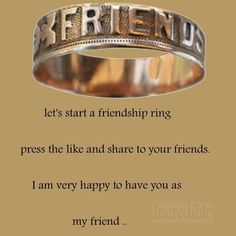 friendship ring on facebook