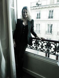 In Paris wearing Le Smoking YSL jacket & Agent Provacteteur corset X