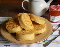 Old Fashioned Home-Made English Crumpets for Tea-Time