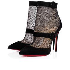 66892d1cdfa9 BoteroBoot 100 Black Dentelle - Women Shoes - Christian Louboutin