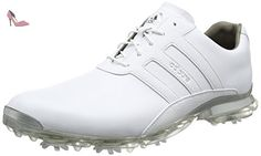 adidas Adipure Classic, Chaussures de Golf Homme, Blanc (White/White/Silver Metallic), 40 EU - Chaussures adidas (*Partner-Link)