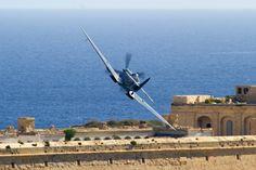 Spitfire over Malta