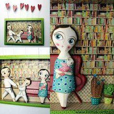Creations of papier maché by Mariapia Gambino www.fattidicarte.com #mariapiagambino #fattidicarte #papiermache #cartapesta #faenza #italy #handmade #paperartwork #paperart #portraits #familyportrait #dolls #fattoinitalia #madewithlove #madeinitaly #karate #books #libri #lettura #childrens #baby #bambini #figli @casafacile