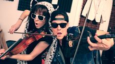 Thrift Shop - Lindsey Stirling & Tyler Ward (Macklemore & Ryan Lewis Cover)...but wait, it was 99 cents! - I love that part!