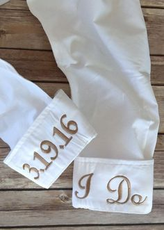 Personalized Getting Ready Wedding Shirts  Great for getting ready photos by Elegant Monograms