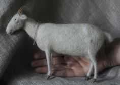 vriad_lee:  little needle felted white goat!