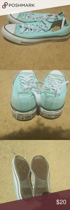 Converse A pair of sea green converse size 7..good condition Converse Shoes Athletic Shoes