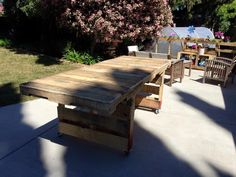 #PalletTable, #Patio, #RecyclingWoodPallets