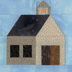 Village Schoolhouse Quilt Block Pattern