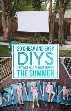 29 Cheap And Easy DIYs That Will Help Parents Survive The Summer