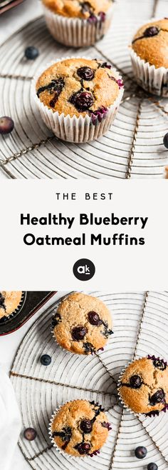 Healthy blueberry muffins that you can feel good about eating! Made with a mix of almond flour and oat flour. These blueberry oatmeal muffins are gluten free, dairy free and packed with nutritious ingredients. It works with all oat flour Oatmeal Blueberry Muffins Healthy, Gluten Free Blueberry Muffins, Healthy Muffins, Blue Berry Muffins, Healthy Rice, Blueberry Breakfast, Healthy Sweets, Healthy Foods, Oat Flour Muffins