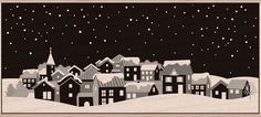 Hero Arts Mounted Rubber Stamps - Winter Town
