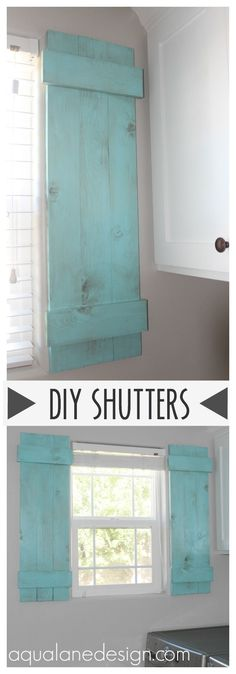 Create these lovely indoor shutters for your home for less than $20!
