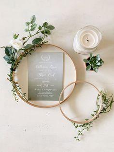 Stylish Folded Wedding Invitation with Inserts Rustic Monogram Wedding Invitation Set MM Simple Wedding Invitation Bundle