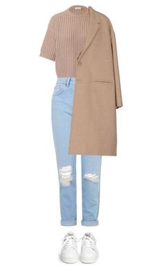 """almost like i.m.h"" by hetasdfghjkl ❤ liked on Polyvore featuring Brunello Cucinelli, Topshop, Neil Barrett, Ash, topshop, coat, momjeans, camel and longcoat"