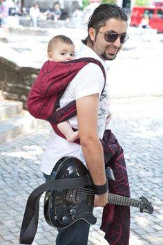 Love me some babywearing dads :)--Kokadi Peace wrap