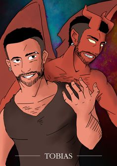 "super-mattyj: "" Fanart of Tobias from the LGBT Comic ""Tobias and Guy"" http://tohdaryl.tumblr.com """