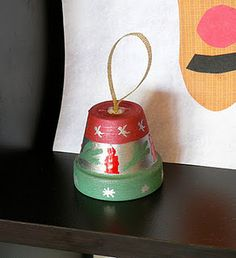 terra cotta pot into bell ornament #Christmas #crafts #kids