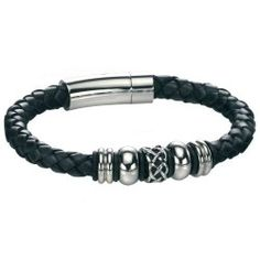 Buy Fred Bennett Leather Celtic Bracelet from our Mens Jewellery Collction at Spangle Men's Fashion Jewelry, Stylish Jewelry, Buy Jewellery Online, Men's Jewellery, Bracelets For Men, Beaded Bracelets, Celtic Bracelet, Black Leather Bracelet, Personalized Jewelry