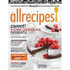 AllRecipes Magazine Subscription : $4.99 (reg. $18)  http://www.mybargainbuddy.com/allrecipes-magazine-subscription-6-99