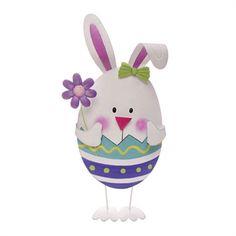 RAZ Imports Standing Bunny with Flower #VonMaur #RAZ #Holiday #Decor #Easter