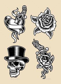 Tattoo Illustration Set
