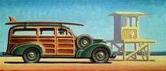 "Daily Paintworks - ""Longboarder"" - Original Fine Art for Sale - © Robert LaDuke"
