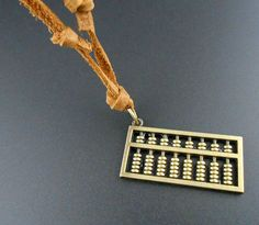 chinese abacus necklace row counter abacus beads by qzjewelry