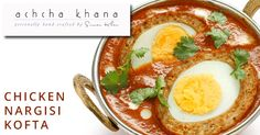 Lets your guests get impressed with our Nargisi kofta that is boiled eggs stuffed inside a shell of kheema To order visit http://achchakhana.com/ or Call us at +919029951961