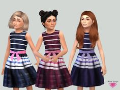 The Sims Resource: Lea dress by Karla Lavigne • Sims 4 Downloads