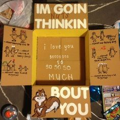 """Going nuts"" care package decorating idea Missionary Packages, Deployment Care Packages, Deployment Gifts, Military Deployment, Military Life, Care Package Decorating, Decorating Ideas, Cute Gifts, Diy Gifts"