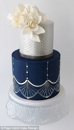 Sweet and sparkly: Sequins are a popular choice as they dress up any cake and add some extra flare