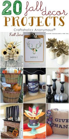 20 Fun Fall Decor Ideas perfect for the last minute crafter!