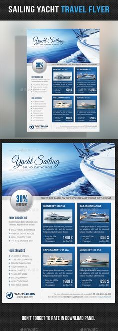 Sailing Yacht Travel Flyer 06 - Corporate Flyers