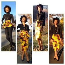 Image result for peplum tops african print