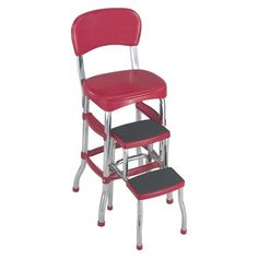 Love this chair with built-in step stool.