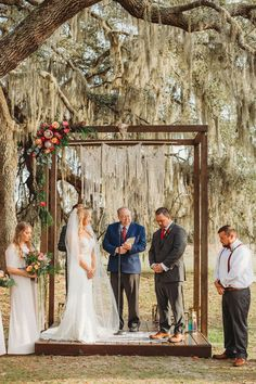 Krysten & Jack's Boho Winter Wedding Boho Wooden Wedding Ceremony Arbor with Macrame Backdrop. Photo by Dewitt for Love Photography. Rustic Boho Wedding, Bohemian Wedding Decorations, Orange Blossom Wedding, Floral Bridesmaid Dresses, Boho Flowers, Florida Wedding Venues, Princess Wedding Dresses, Wedding Gowns, Barn